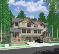 house plans,  home plans, duplex plans, row homes, multi-family house plans | Plan D-523