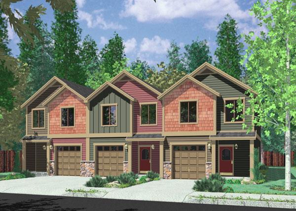 4 bedroom duplex floor garage plan house plans home for Ehouseplans com