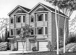 house plans,  home plans, duplex plans, row homes, multi-family house plans | Plan D-405
