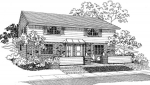 house plans,  home plans, duplex plans, row homes, multi-family house plans | Plan D-036