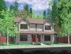 house plans,  home plans, duplex plans, row homes, multi-family house plans | Plan D-499