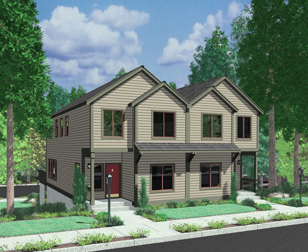 Front Elevation Of Raw House : Front elevation of row house joy studio design gallery