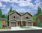 house plans,  home plans, duplex plans, row homes, multi-family house plans | Plan D-503