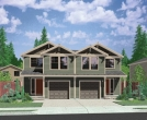 house plans,  home plans, duplex plans, row homes, multi-family house plans | Plan D-496