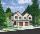 house plans,  home plans, duplex plans, row homes, multi-family house plans | Plan D-471