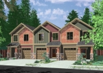 house plans,  home plans, duplex plans, row homes, multi-family house plans | Plan T-407