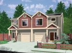 house plans,  home plans, duplex plans, row homes, multi-family house plans | Plan D-532
