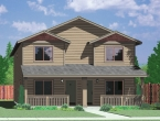 house plans,  home plans, duplex plans, row homes, multi-family house plans | Plan D-549
