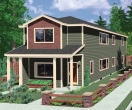 house plans,  home plans, duplex plans, row homes, multi-family house plans | Plan D-552