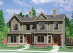 house plans,  home plans, duplex plans, row homes, multi-family house plans | Plan D-565