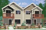 house plans,  home plans, duplex plans, row homes, multi-family house plans | Plan D-568